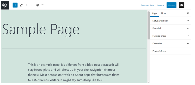 What are Pages in WordPress