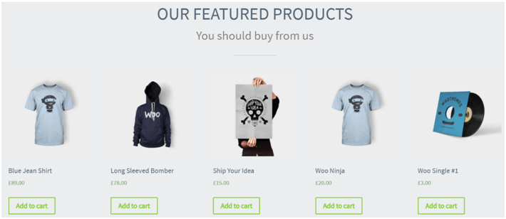 featured product wordpress