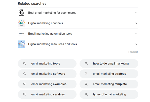 related-searches-email-marketing