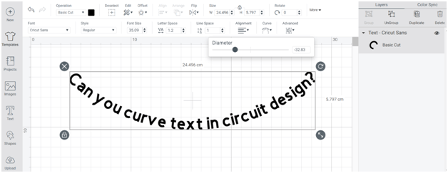 Can You Curve Text in Circuit Design Space