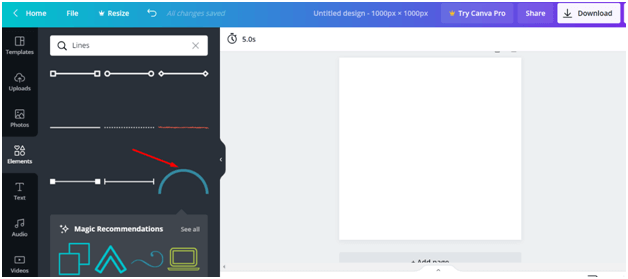 How Do You Curve a Line in Canva