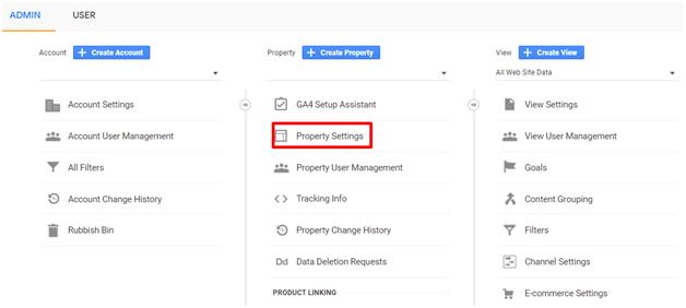 Delete a Google Analytics Account